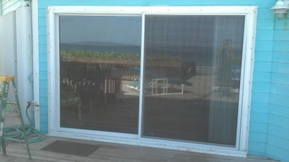 10u0027 Sliding Glass Door Aluminum Low E Insulated With Argon Gas Installed.